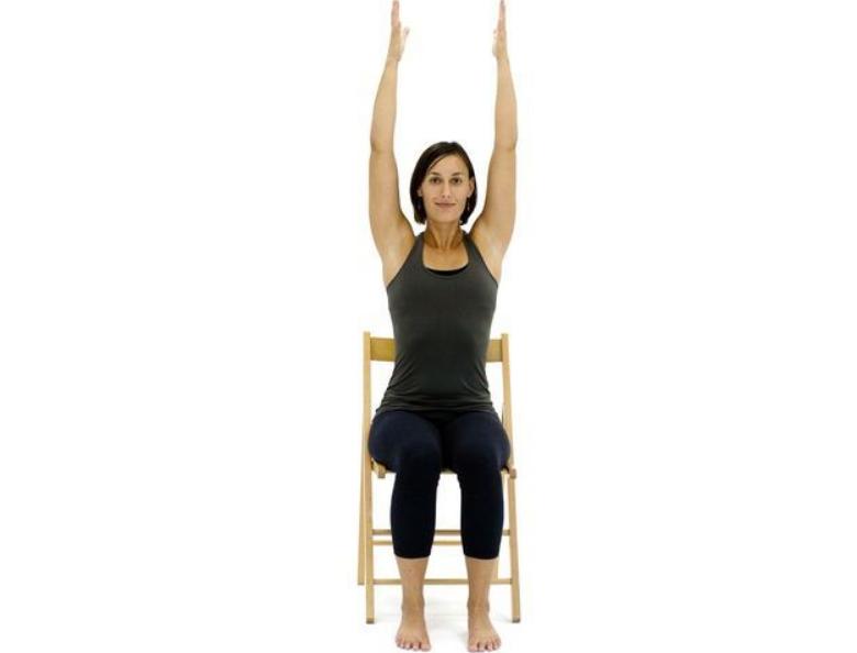 Chair Upward Hand Stretch Pose - Chair Urdhva Hastasana