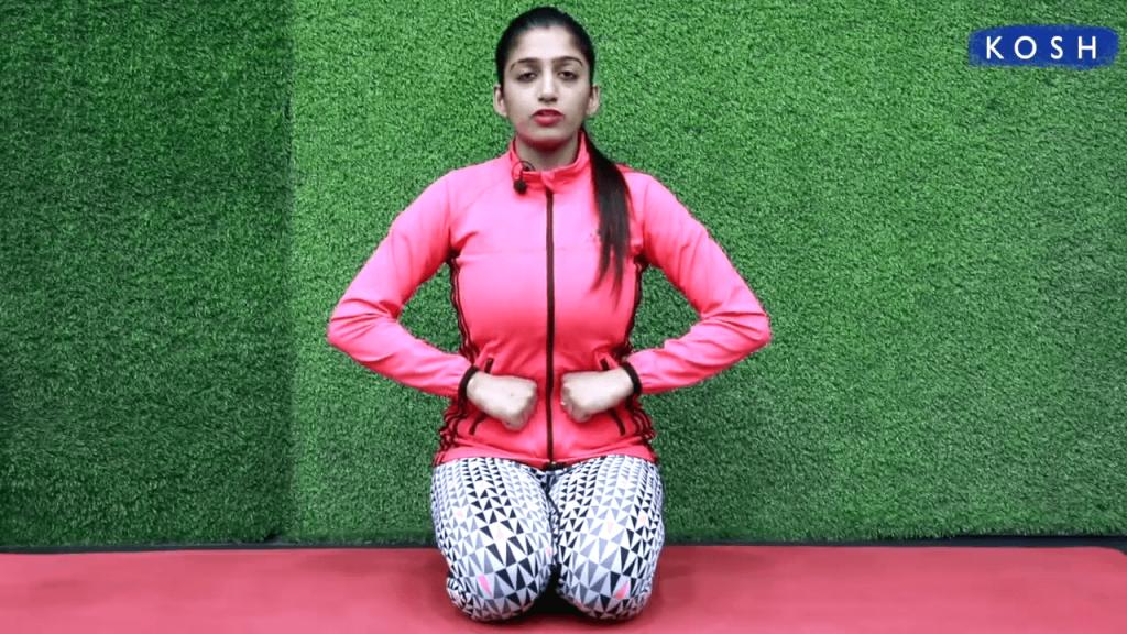 Frog pose yoga - Mandukasana