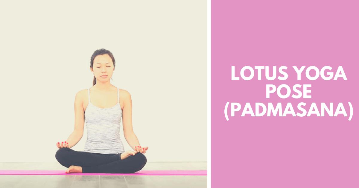 Lotus yoga pose - Padmasana