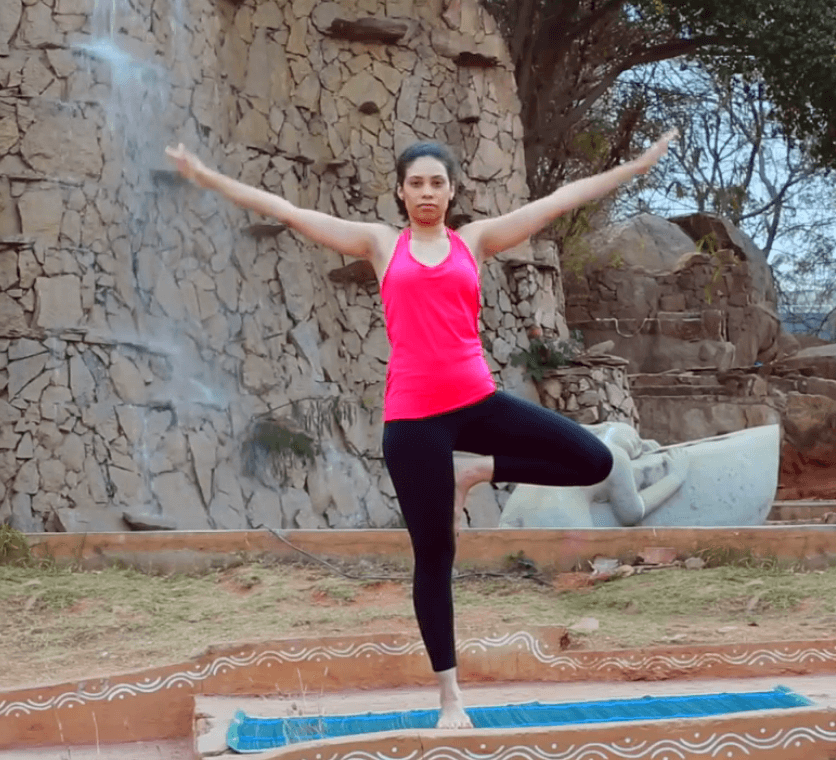 Tree pose yoga - Vriksasana