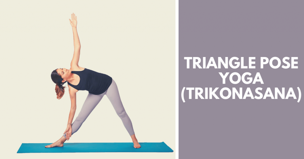 Triangle pose yoga - Trikonasana