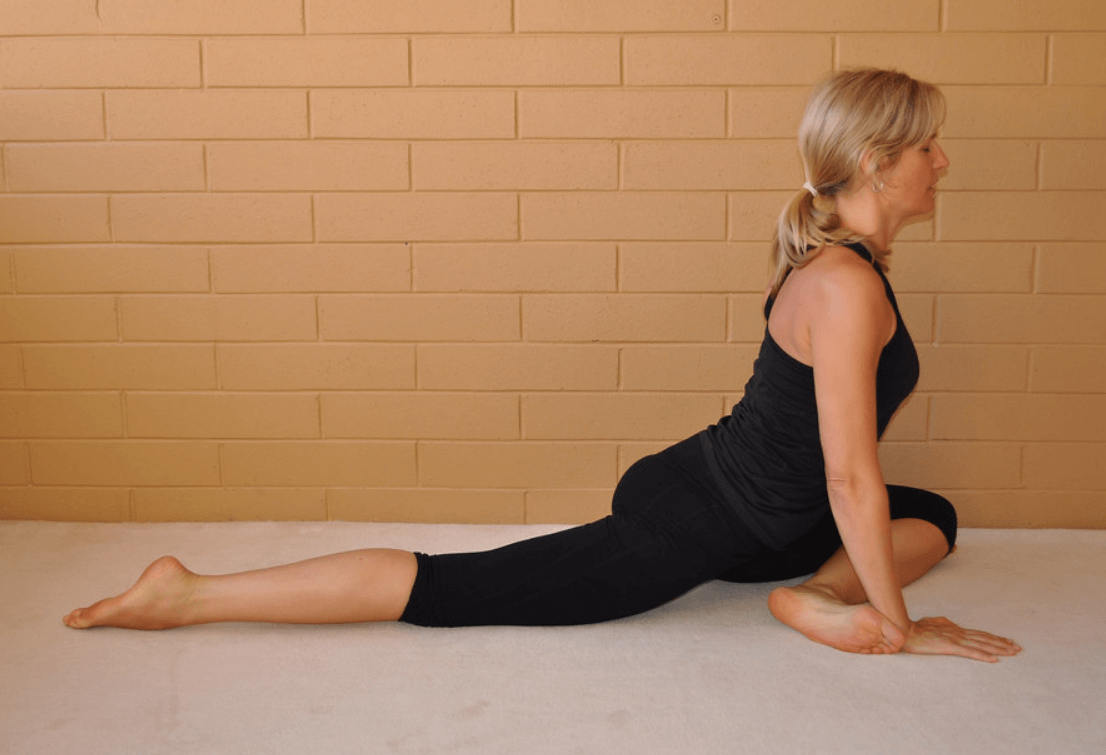 Yin Yoga Sleeping Swan Pose