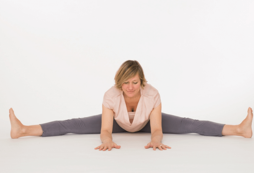 Yin yoga dragonfly pose